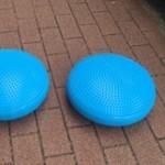 バランスディスクでの体幹トレーニング(ジミ練)
